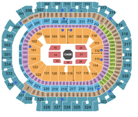 Cageside Seats NOT For Sale To Public For UFC - American airlines arena seat map