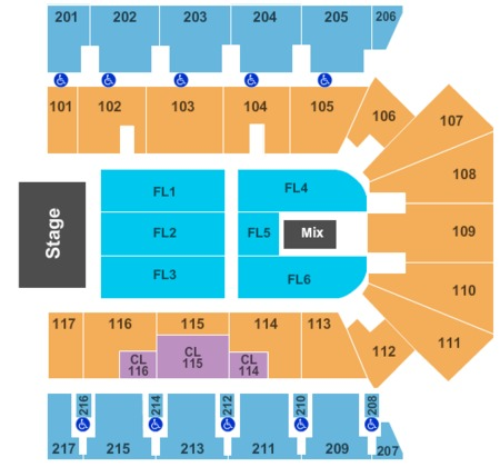 End Stage Seating Map American Bank Center