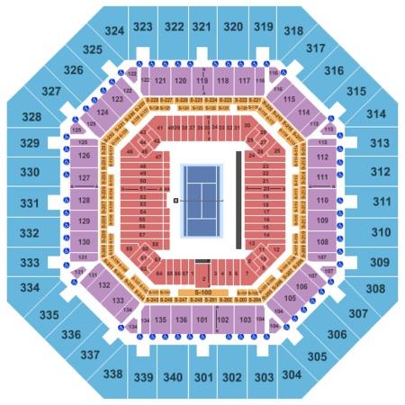US Open Arthur Ashe Stadium Seating Chart