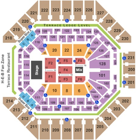 At Amp T Center Tickets And At Amp T Center Seating Charts 2019