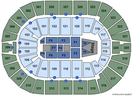Maroon 5 Seating Map Bok Center