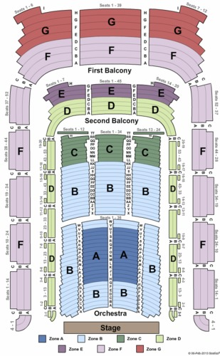 Endstage Zone Seating Map Boston Symphony Hall