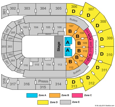 Budweiser Gardens Seating Chart With Seat Numbers Chart Walls