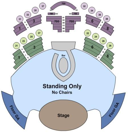 club casino seating chart
