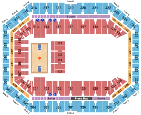 Basketball Seating Map Carrier Dome
