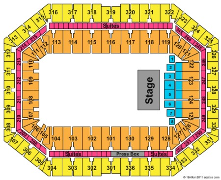 Block Party Concert Seating Map Carrier Dome