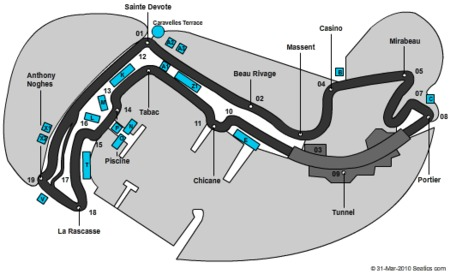 monaco gp circuit. Monaco Grand Prix Seating Map