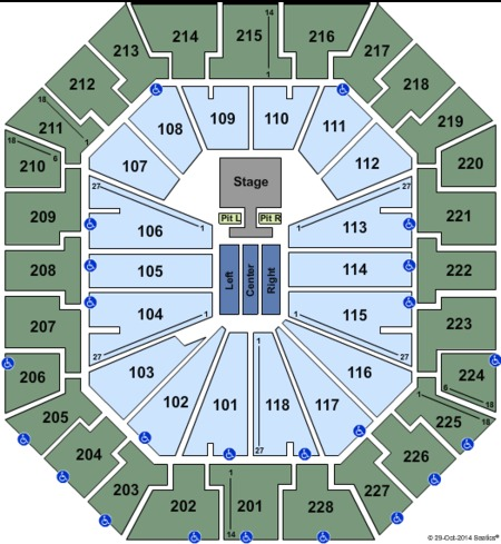 Colonial Life Arena Seating Charts