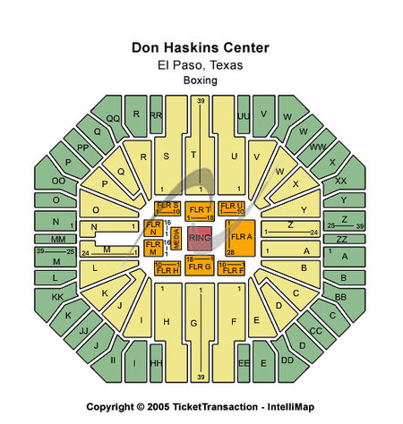 Other Seating Map Don Haskins Center