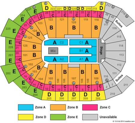 Tickets And Giant Center Seating Charts