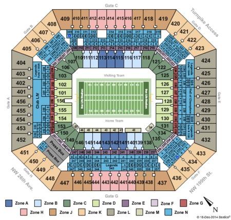 Hard Rock Stadium Tickets And Hard Rock Stadium Seating Charts 2018 Hard Rock Stadium Tickets