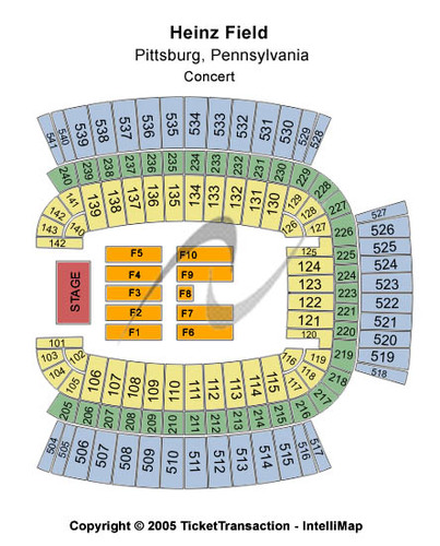 Tickets And Heinz Field Seating Charts