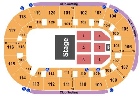 Joe Bonama Seating Map Germain Arena
