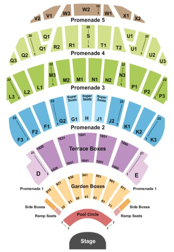 Hollywood Bowl Seating Charts