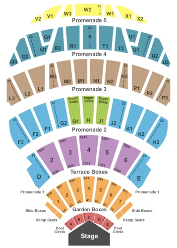 Hollywood bowl tickets and hollywood bowl seating charts for Hollywood bowl terrace 5