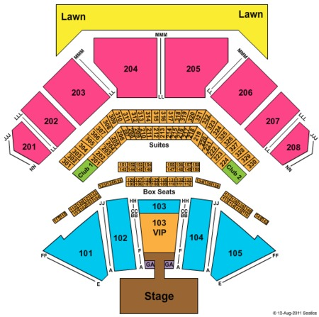 Toby Keith Seating Map Hollywood Amphitheatre