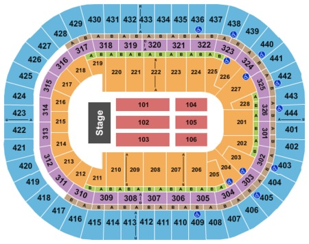 End Stage Seating Map Honda Center