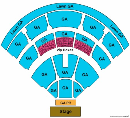 End Stage Ga Seating Map Jiffy Lube Live