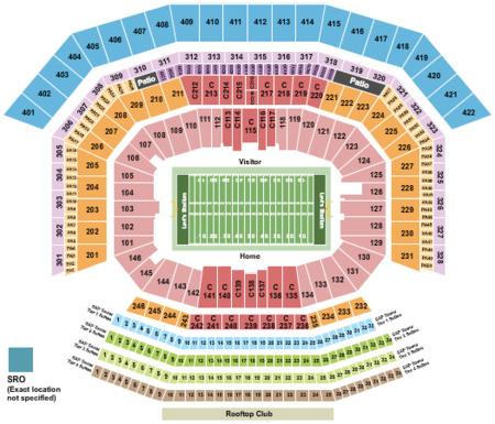 Levis Stadium Capacity >> Levi's Stadium Tickets and Levi's Stadium Seating Charts - 2017 Levi's Stadium Tickets in Santa ...