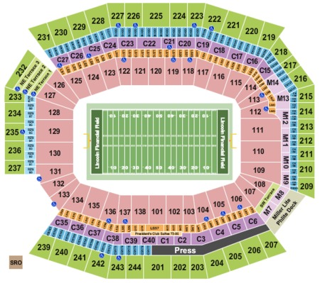 Lincoln Financial Field Tickets And Lincoln Financial