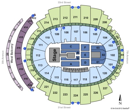 Madison Square Garden Tickets and Madison Square Garden ... on veterans memorial coliseum seating map, imperial theatre seating map, royal farms arena seating map, pepsi center seating map, tucson convention center seating map, the forum seating map, u.s. cellular field seating map, centennial hall seating map, aaron's amphitheatre at lakewood seating map, gila river arena seating map, auto club speedway seating map, university of phoenix stadium seating map, joyce center seating map, consol energy center seating map, la crosse center seating map, alerus center seating map, staples center seating map, mgm grand garden arena seating map, winter garden theatre seating map,