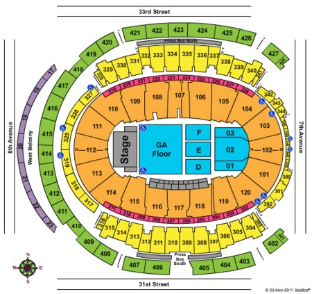 Madison Square Garden Concert Seating Map - Garden and ... on la crosse center seating map, pepsi center seating map, aaron's amphitheatre at lakewood seating map, u.s. cellular field seating map, veterans memorial coliseum seating map, alerus center seating map, staples center seating map, auto club speedway seating map, mgm grand garden arena seating map, joyce center seating map, university of phoenix stadium seating map, winter garden theatre seating map, consol energy center seating map, the forum seating map, centennial hall seating map, imperial theatre seating map, gila river arena seating map, royal farms arena seating map, tucson convention center seating map,