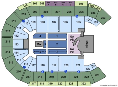 Bay events center tickets and mandalay bay events center seating