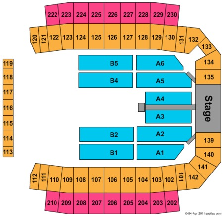 Brad Paisley Seating Map Mapfre Stadium