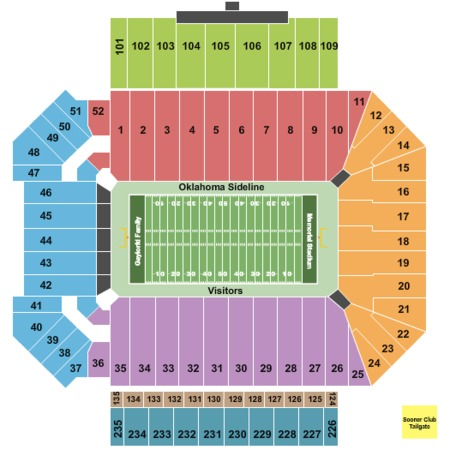 Oklahoma Memorial Stadium Tickets And Oklahoma Memorial