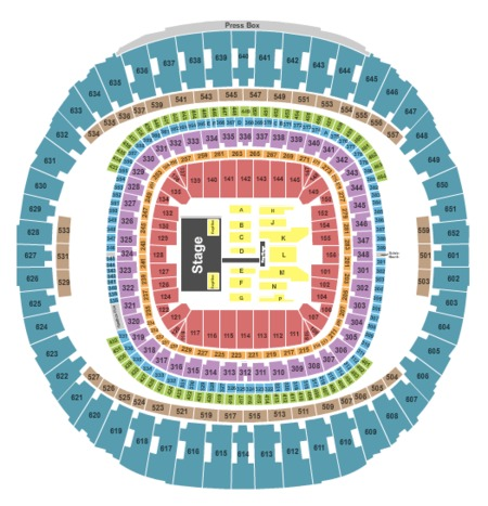 Mercedes benz superdome tickets and mercedes benz for Mercedes benz atlanta seating chart