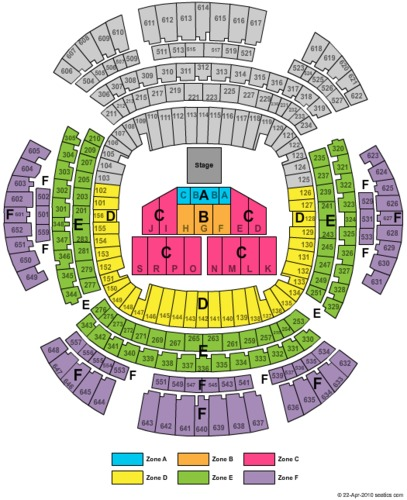 Festival Zone Seating Map Mercedes Benz Superdome