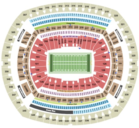 MetLife Stadium Tickets and MetLife Stadium Seating Charts ... on amalie arena map, madison square garden, heinz field, marlins ballpark map, arrowhead stadium, wembley stadium, soldier field, smoothie king center map, royal farms arena map, mercedes-benz superdome, metlife parking chart, miami dolphins map, the palace of auburn hills map, talking stick resort arena map, o.co coliseum map, truman sports complex map, sun life stadium, raymond james stadium, university of phoenix stadium, heinz field map, ford field, metlife ny, bmo harris bank center map, los angeles memorial sports arena map, metlife tickets, new york giants, metlife seating chart, gillette stadium, georgia dome, giants stadium, new york jets, gila river arena map, prudential center map, metlife sports complex, lambeau field, centurylink field, reliant stadium, cowboys stadium,