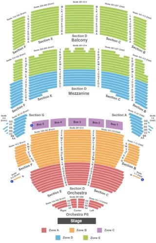 Foyer Seating Zone : Jay leno tickets mortensen hall bushnell theatre oct