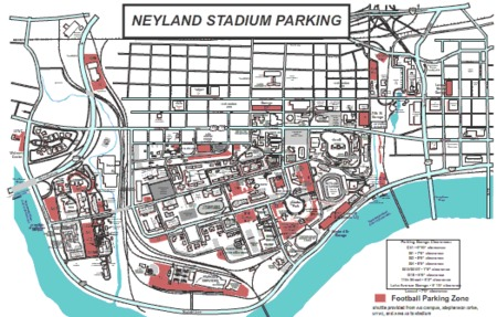 Neyland Stadium Parking Lots