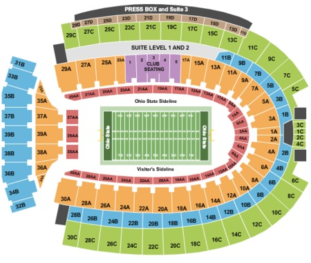 Ohio Stadium Tickets And Ohio Stadium Seating Charts