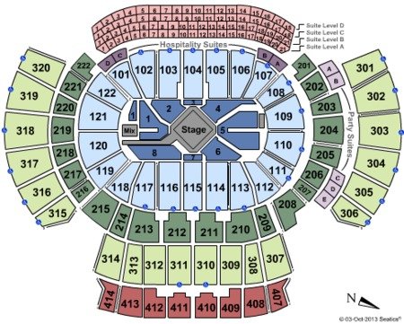 Philips Arena Seating Map Philips Arena Tickets And Philips Arena - American airlines arena seat map