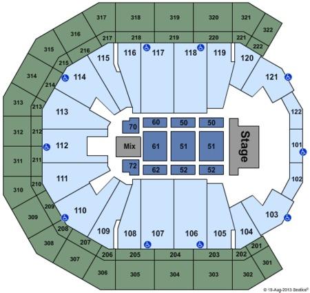 End Stage Seating Map Pinnacle Bank Arena