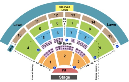 Pnc Music Pavilion Tickets And Pnc Music Pavilion Seating