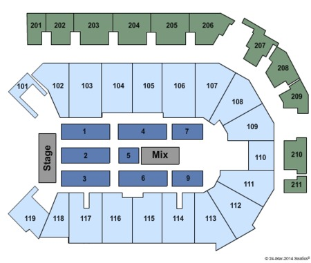 The Eagles Seating Map Ppl Center