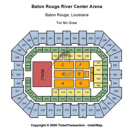Tim Mcgraw Seating Map Raising Cane S River Center Arena