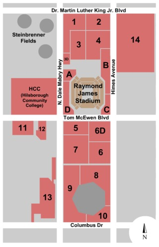 Raymond James Stadium Parking Lots