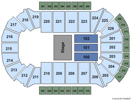 Theatre Seating Map Resch Center