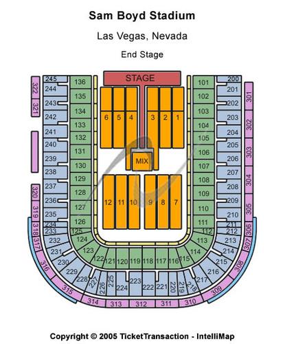 End Stage Seating Map Sam Boyd Stadium