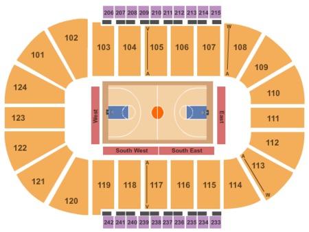 Basketball Seating Map Santander Arena
