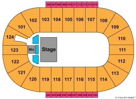 Trans Siberian Orchestra Seating Map Santander Arena