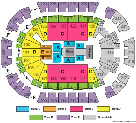 Wwe Zone Seating Map Save Mart Center