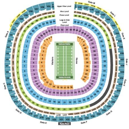 on qualcomm stadium seating map