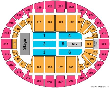 Daughtry Seating Map Snhu Arena