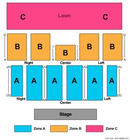 Soaring Eagle Seating Chart