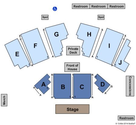 Ray Lamontagne Seating Map Stage Ae